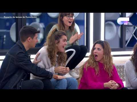 Reparto de temas Gala Eurovisión   OT 2017