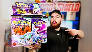 Opening my FIRST Chilling Reign Pokemon Booster Box!