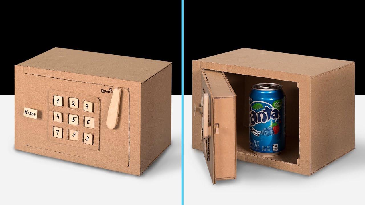 How To Make A Cardboard Code Lock Safe
