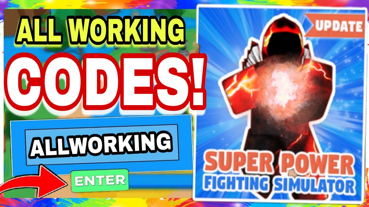 All New Working Super Power Fighting Simulator Codes Roblox