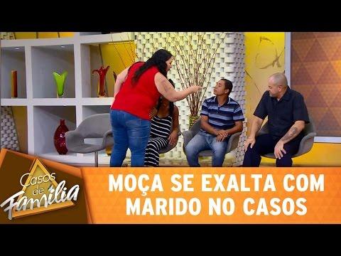 Casos de Família (02/05/17) - Moça se exalta com marido no Casos