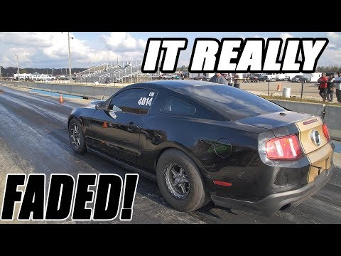 PROCHARGER POWERED MUSTANG LEFT THE LINE LIKE THERE'S NO TOMORROW!