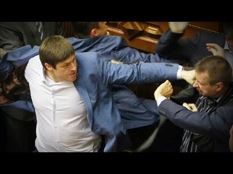 Fist Fight on the Floor of Ukraine Parliament
