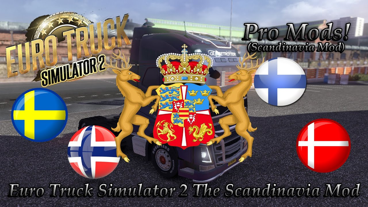 euro truck simulator 2 incredible pro mods scandinavia mod. Black Bedroom Furniture Sets. Home Design Ideas