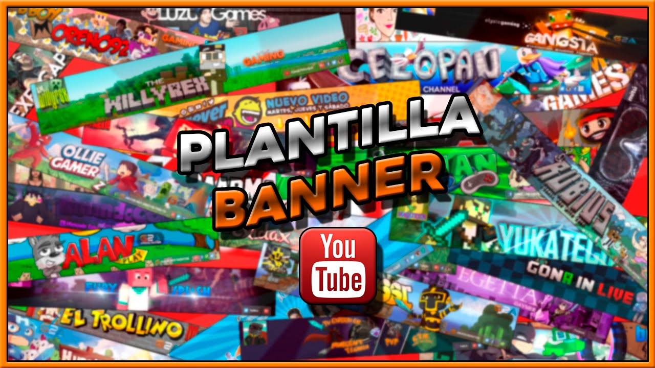 Plantilla Para Banners De Youtube Descarga Mega Y Mediafire