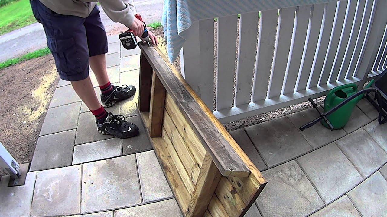 Nykomna Att bygga en bänk. DIY på Svenska - YouTube NS-36