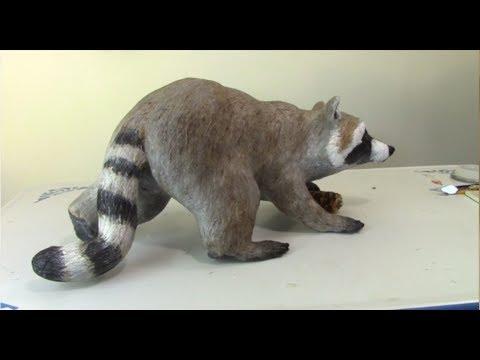 Paper Mache Raccoon Part 1 - Making the Armature