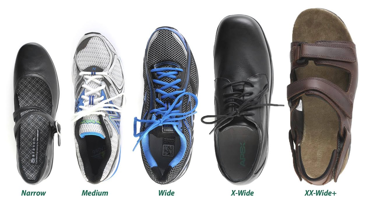 Difference Between Narrow Medium And Wide Shoes