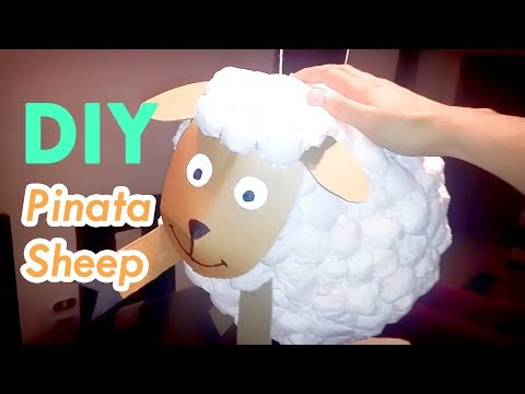 Sheep Piñata DIY - Make your own pinata full of Candy from paper and tissues