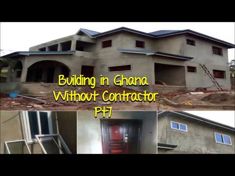 Building In Ghana Pt 7// Installing Doors and Windows
