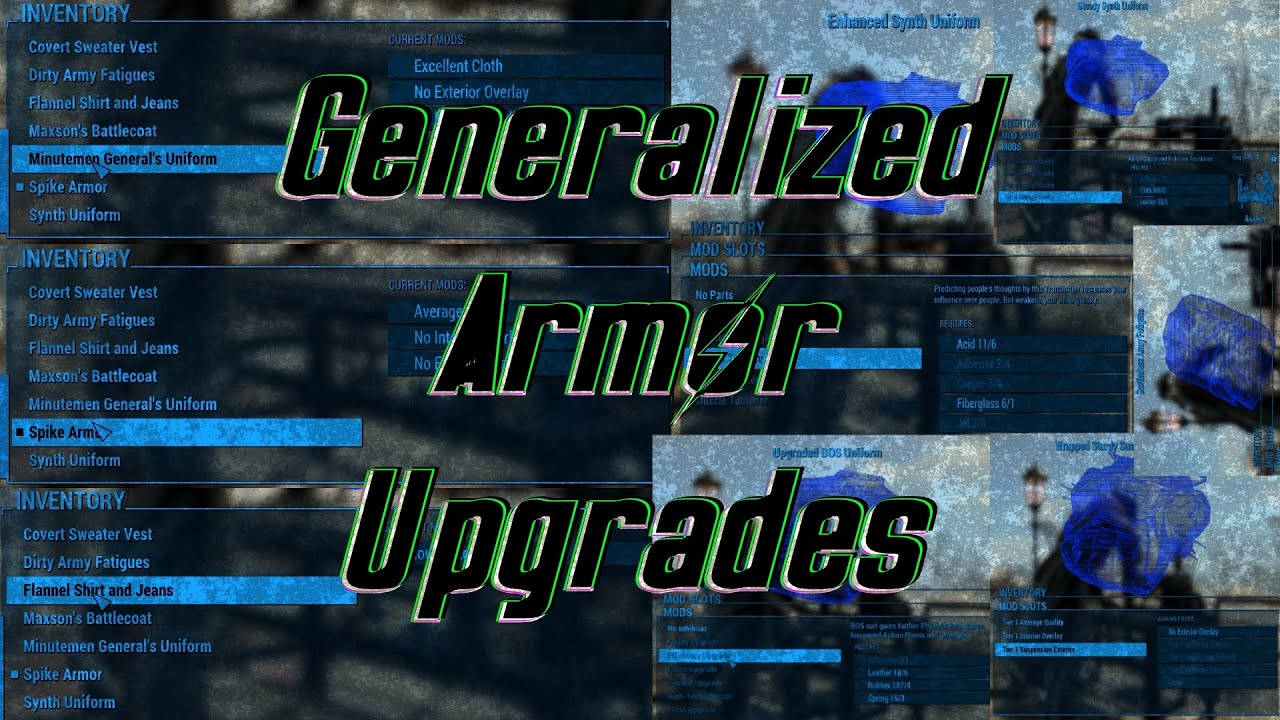 Generalized Armor Upgrades Mod - YouTube