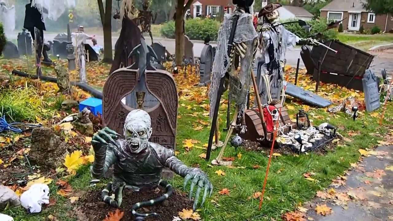 halloween graveyard 2012 - youtube