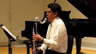 Prelude from Cello Suite No. 1 by J.S. Bach - Bass Clarinet (HD)