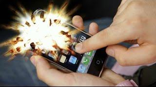 ПОЧЕМУ ВЗРЫВАЮТСЯ МОБИЛЬНЫЕ ТЕЛЕФОНЫ???(Все больше я замечаю случаев где мобильные телефоны взрываются прямо в руках у владельцев, также бывают..., 2016-01-31T17:26:37.000Z)