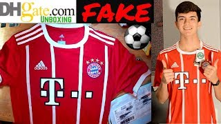 Fake Bayern Munich 2018 LEWANDOWSKI jersey unboxing ⚽???? Home kit! DHGATE