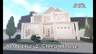 BLOXBURG│Aesthetic 2 Story House 55k│Speed Build