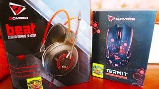 Распаковка игровой мыши Termit и гарнитуры Beat от Qcyber