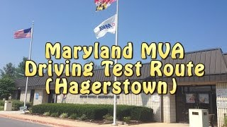Maryland MVA Driving Test (Hagerstown - Route 1 of 2)