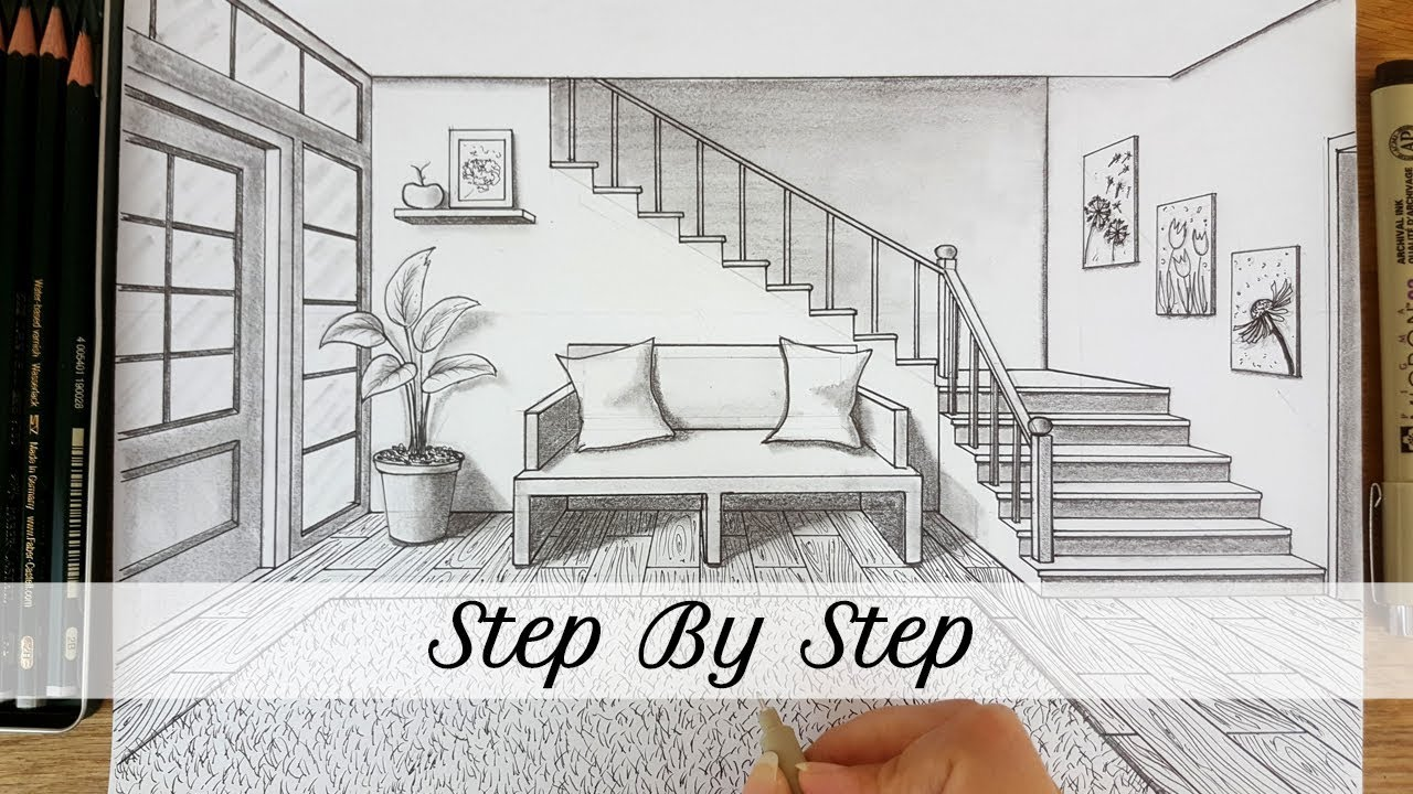 How To Draw An Entryway In One Point Perspective Step By Step Youtube
