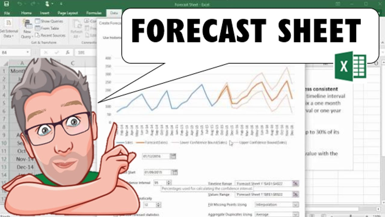 How To Use Forecasting Tools In Microsoft Excel 2016
