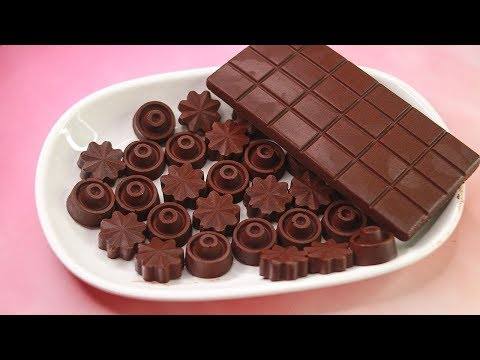 4 Ingredients Homemade Chocolate Recipe | How To Make Chocolate At Home | Yummy