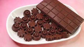 4 ingredients Homemade Chocolate Recipe   How To Make Chocolate At Home   Yummy