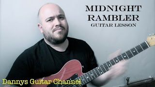 Midnight Rambler - The Rolling Stones - Blues Rock Guitar Lesson