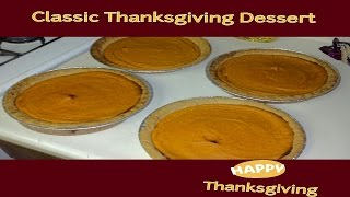 Classic Thanksgiving Dessert  Sweet Potato Pie
