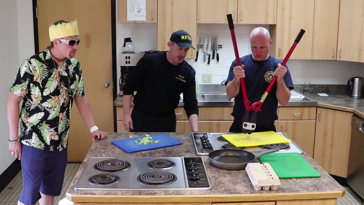 Regina Saskatchewan Fire Fighters Intro at the 2018 Fire In the kitchen cook off!