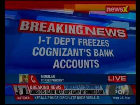 I-T department freezes Cognizant's bank accounts for non payment of Rs 2500 cr