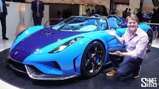 This BLUETIFUL Koenigsegg Regera has the ULTIMATE Party Trick!