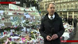 BBC news reporter breaks down during live report in Paris