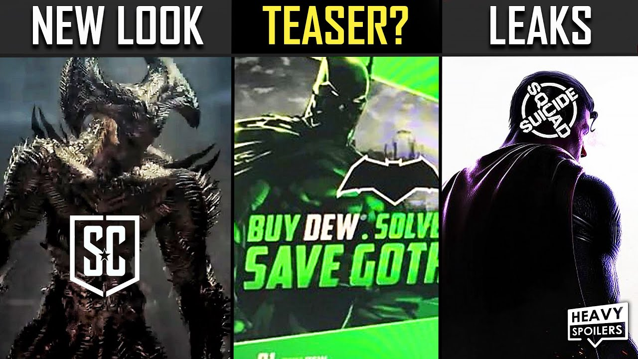 Justice League Snyder Cut Steppenwolf, Batman Mountain Dew Debunked & Suicide Squad Game Leaks