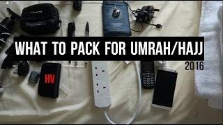 WHAT TO PACK FOR UMRAH & HAJJ - HAJJ VLOGGER