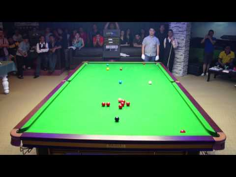 Stephen Lee Exhibition 2014 - Stephen Lee ( Break 116 ) vs Moh Loon Hong at Niche Snooker Academy