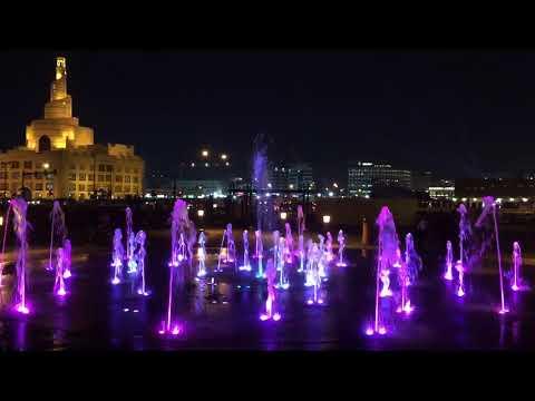 Достопримечательности Катара . Доха. Фонтан возле Сук Вакиф. Фанар. Sights in Doha. Qatar
