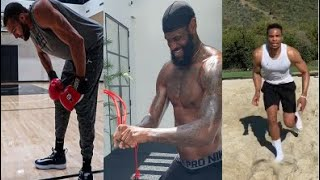 NBA Players Motivational Workout Quarantine Style + Unboxing Addsfit Massage Gun