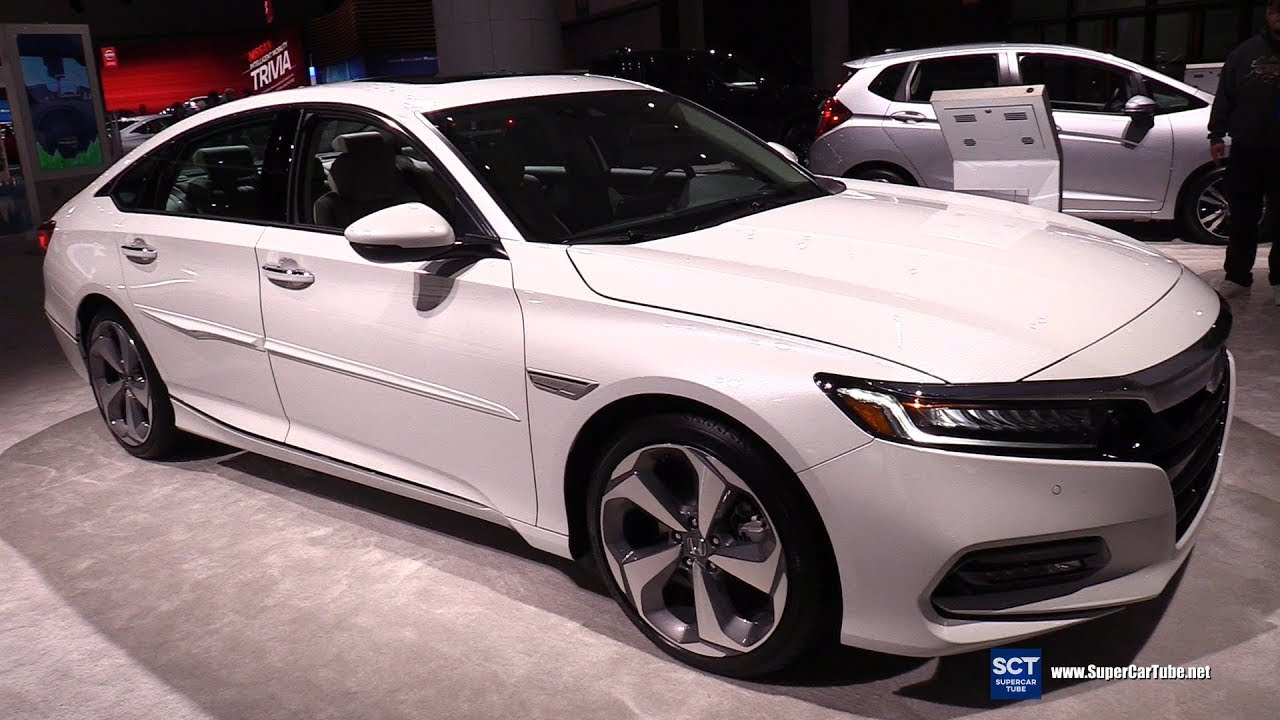 2019 honda accord touring exterior and interior walkaround 2018 la auto show