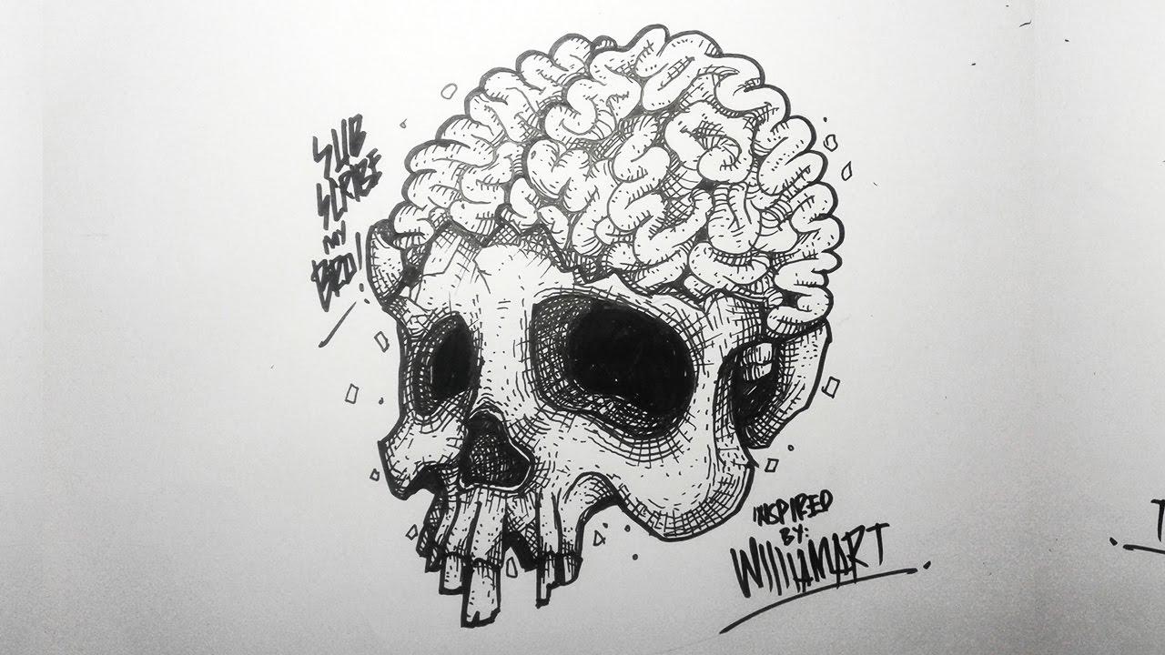 how to draw anime brain
