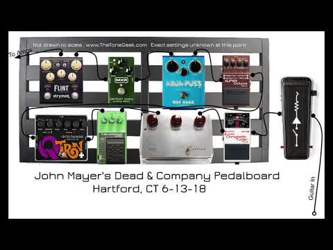 Rundown Of John Mayer's 2018 Dead & Company Pedalboard And Amp Rig