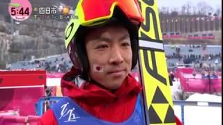 オリンピック スキージャンプにて渡部暁斗が24年ぶりメダル 渡部暁斗 動画 13