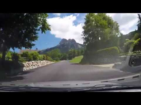 Driving in France : Evian-les-Bains to Bernex (Haute-Savoie 74)