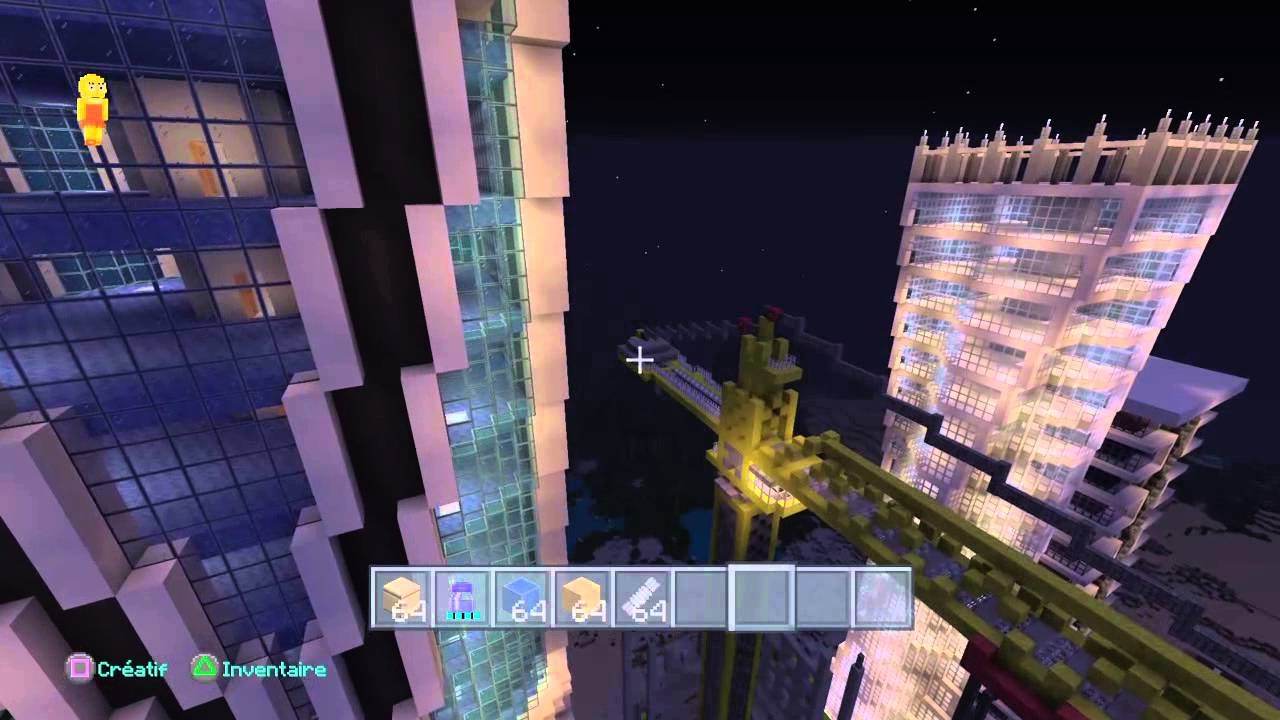 Minecraft ps4 ville moderne tour eifel fr youtube - Ville moderne minecraft ...