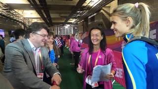 Вітання Юлії Левченко у мікс-зоні