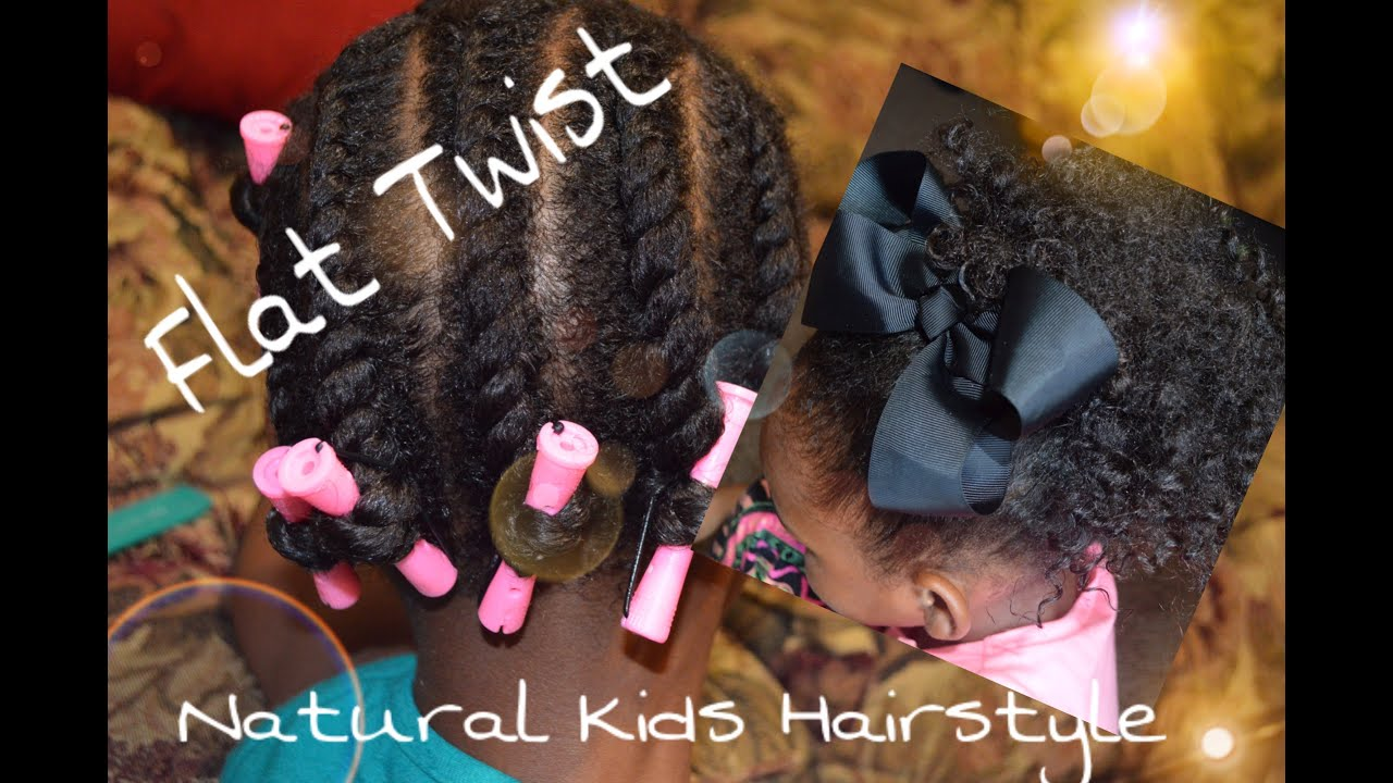 natural hair styles for little girls |flat twist & 3 styles| ft