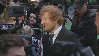 The Queen awards Ed Sheeran an MBE