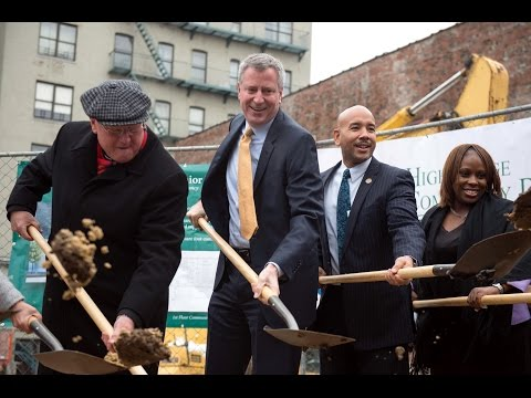 Mayor de Blasio Breaks Ground on 100 Percent Affordable Building at Pacific Park