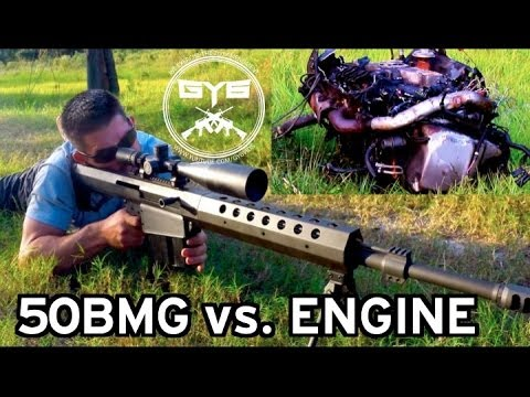 50 BMG -vs- ENGINE |Armor Piercing Incendiary Rounds|