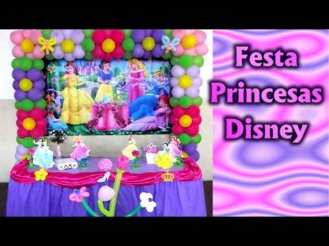 Decoração de Festa Tema Princesas Disney - Aniversario infantil / Fiesta / Party kids