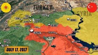 18 июля 2017. Военная обстановка в Сирии. Бои между курдами и боевиками Турции. Русский перевод.